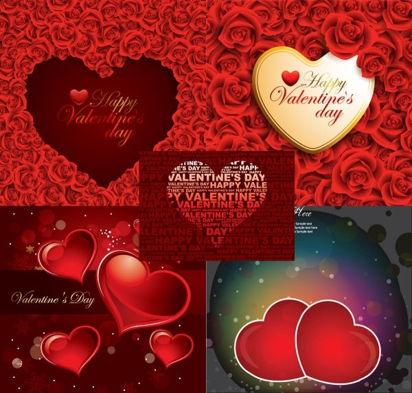 romantic roses and heartshaped background vector