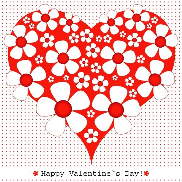 romantic valentine39s day heartshaped card vector