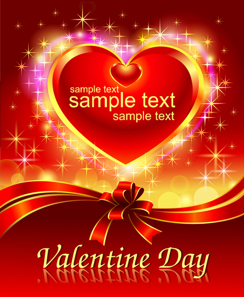 Romantic Valentine Day Theme Background Vector Free Vector In