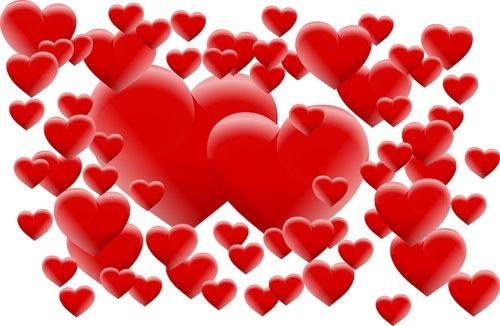 romantic valentine hearts vector background art