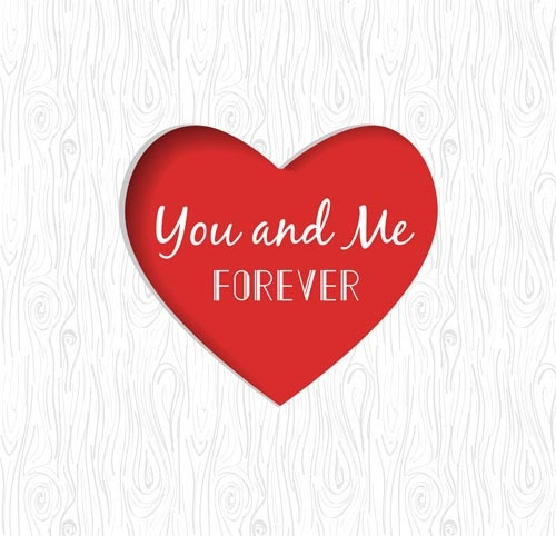romantic valentine hearts vector background art