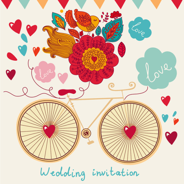 Romantic Wedding Invitation Card Vector Free In Encapsulated