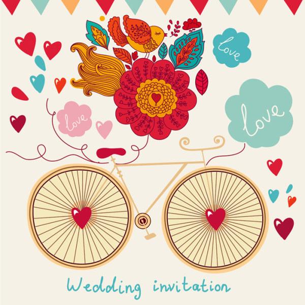 Romantic wedding invitation card vector free vector in encapsulated romantic wedding invitation card vector free vector 492mb stopboris Gallery