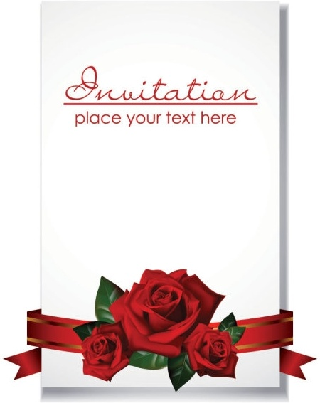 romantic wedding invitations vector