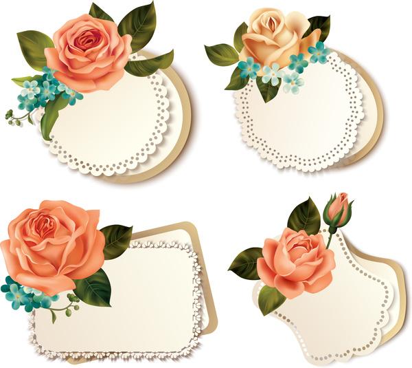 Rose frame decoration Free vector in Adobe Illustrator ai ( .ai ...