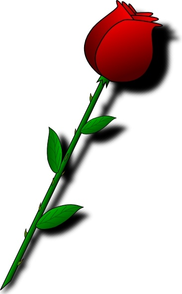 Rose Red Flower Clip Art Free Vector In Open Office Drawing Svg