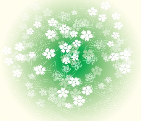 flowers background classical green white design