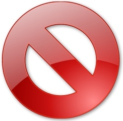 Round red Turn off button