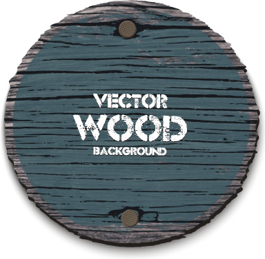 round wood board background vector