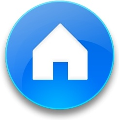 Rounded blue home button