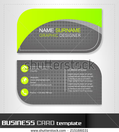 Rounded business cards template vector free vector in encapsulated rounded business cards template vector wajeb