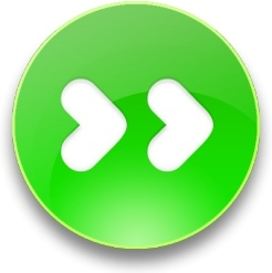 Rounded green Fast forward  button