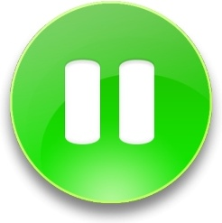 Rounded green pause  button