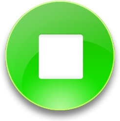 Rounded green stop  button