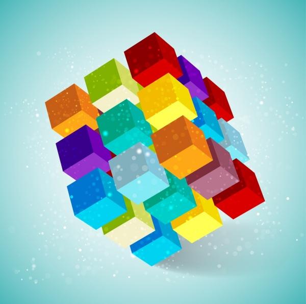 rubikcube icon colorful 3d design
