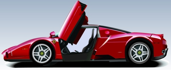 sports car advertising realistic red design