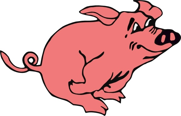 running pig clip art free vector in open office drawing svg svg rh all free download com clipart of a pig black and white clipart of a big heart