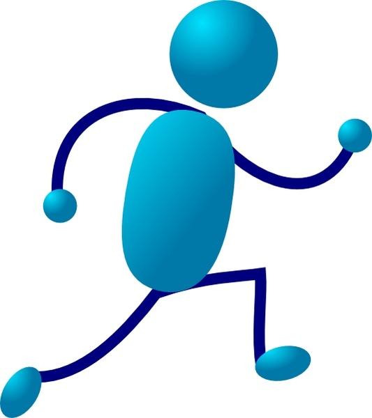 Running Stick Man clip art