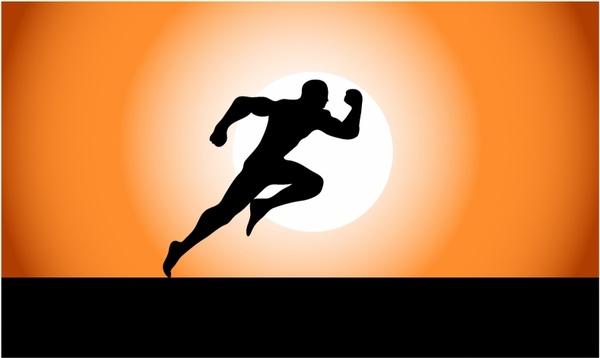 Running Superhero Silhouette
