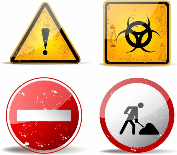 rusty warning signs