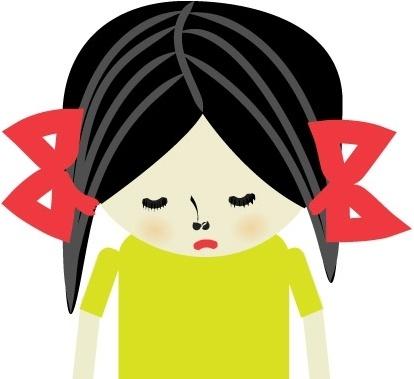 Sad Girl Free Vector In Adobe Illustrator Ai Ai Vector