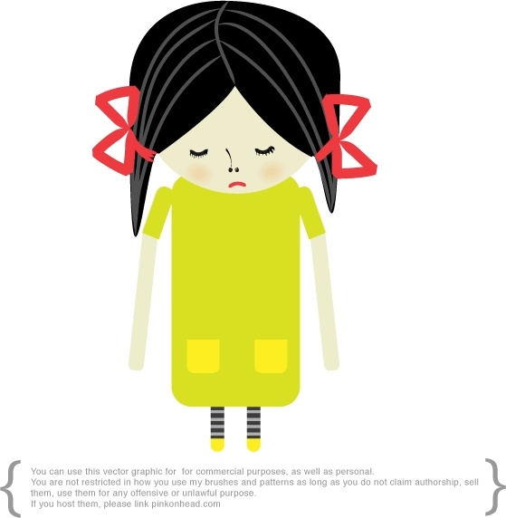 Sad Girl Free Vector In Adobe Illustrator Ai  Ai  Vector Illustration Graphic Art Design Format Format For Free Download 19644Kb-5336