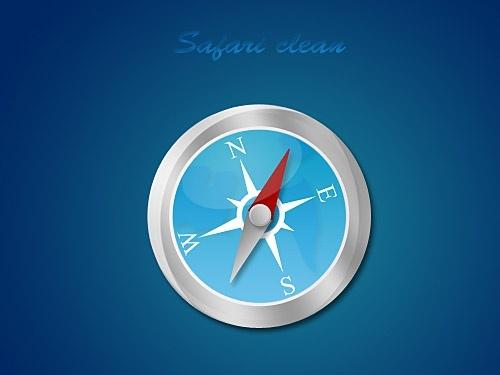Safari Clean Icon PSD
