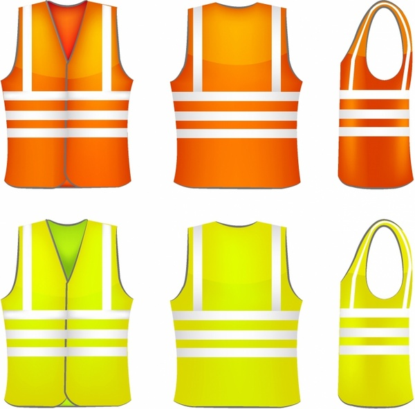 f2d4c3604d Safety vest Free vector in Adobe Illustrator ai ( .AI ...