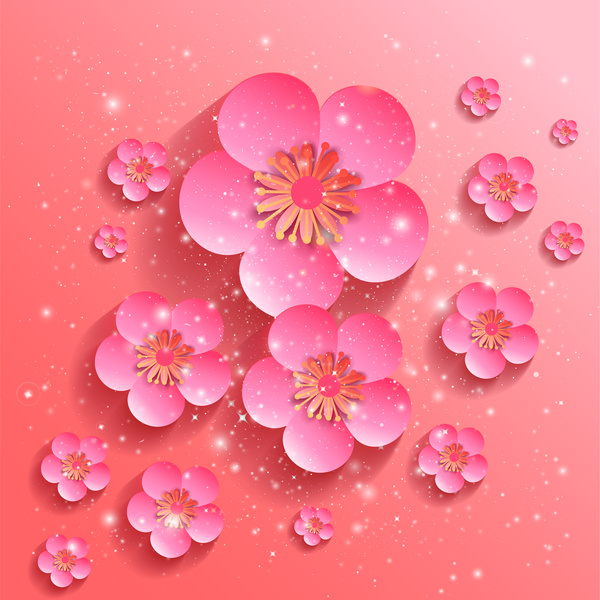 Sakura Flower Background Free Vector In Adobe Illustrator Ai Ai