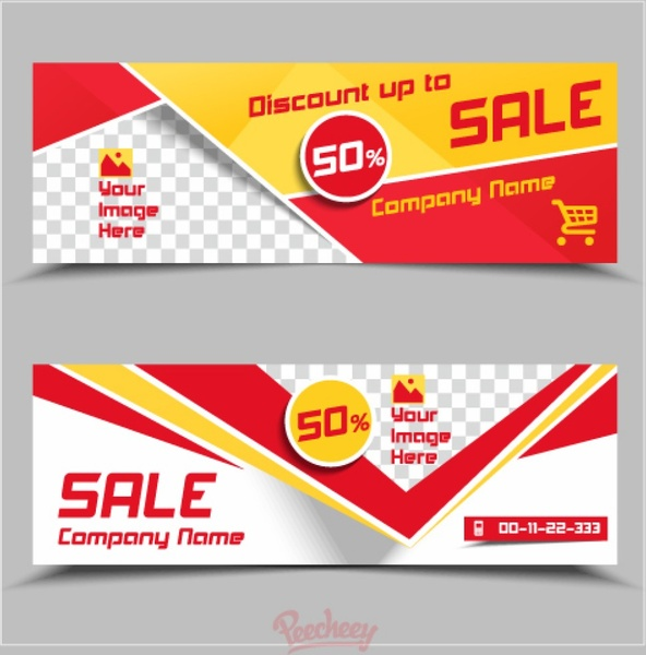 sale banner template free vector in adobe illustrator ai ai