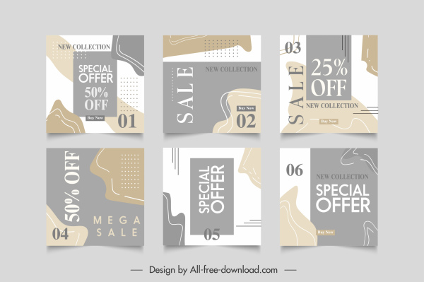 sale banner templates blurred abstract decor