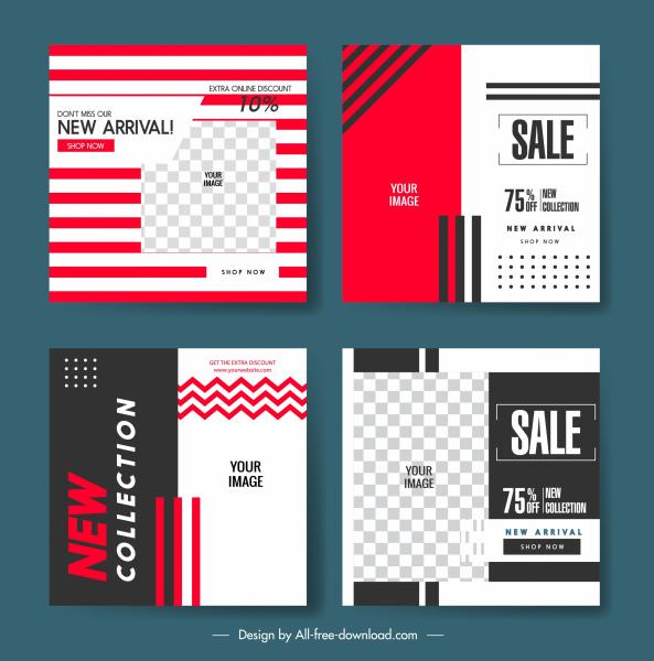 sale flyer templates modern elegant flat decor