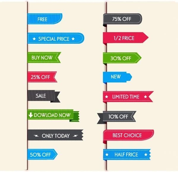 sale labels for web
