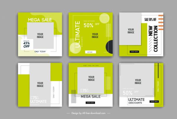 sale poster templates flat geometric shapes decor