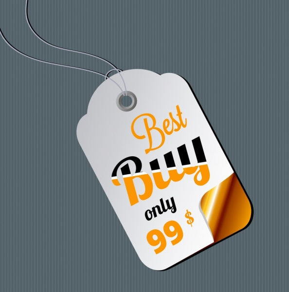 sale tag template bright modern design