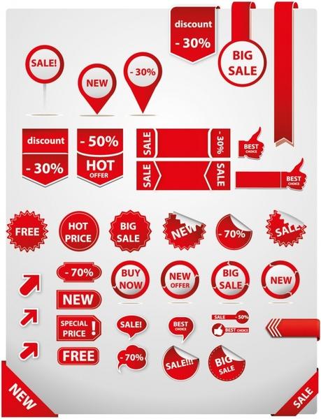 Sale tags element set