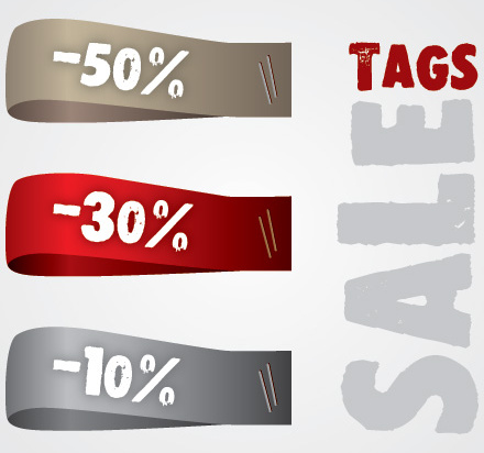 sale tags vector graphic