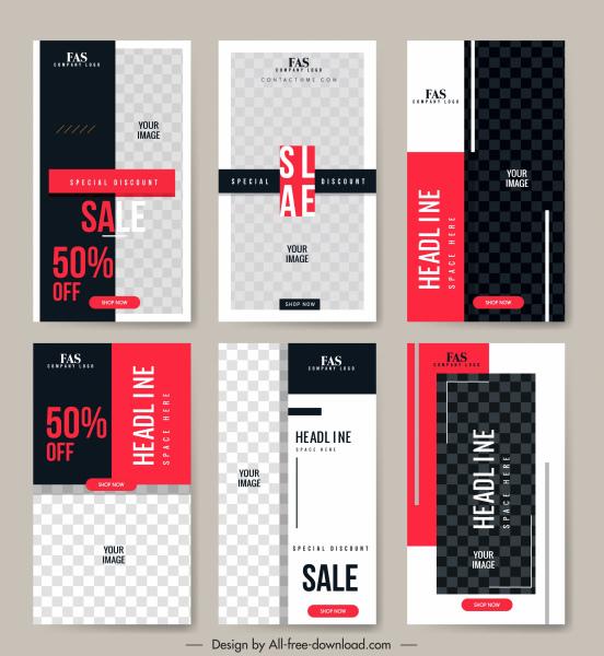 sales leaflet templates elegant black white checkered decor
