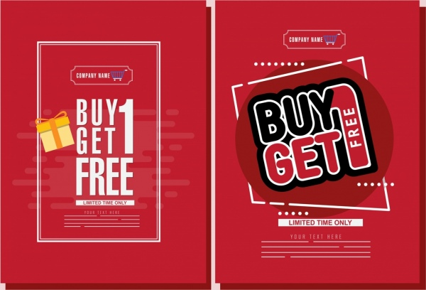 sales poster templates red design capital texts decoration