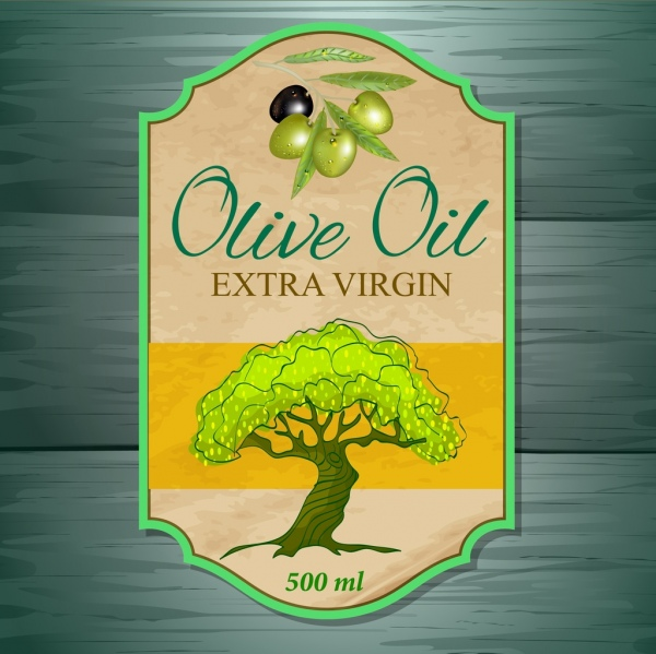 sales tag template olive oil icon retro flat