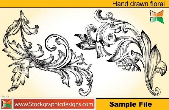 sample file from set 2 hand drawn floral vector and photoshop brush