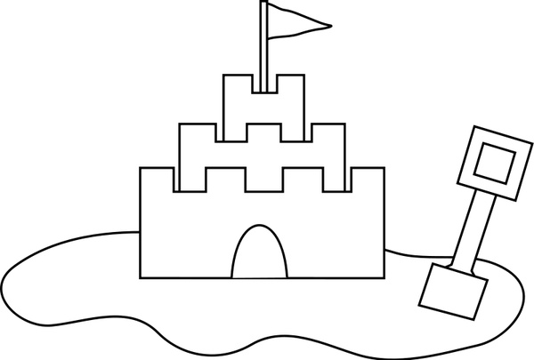 Sand Castle Free Vector 32 67kb