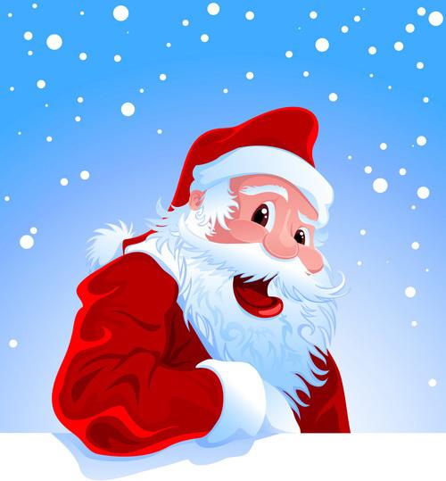 Santa claus happy christmas vector Free vector in Encapsulated ...