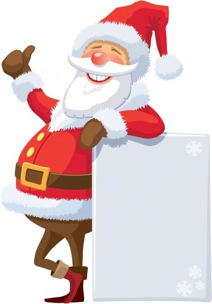 funny santa claus icon colored cartoon character
