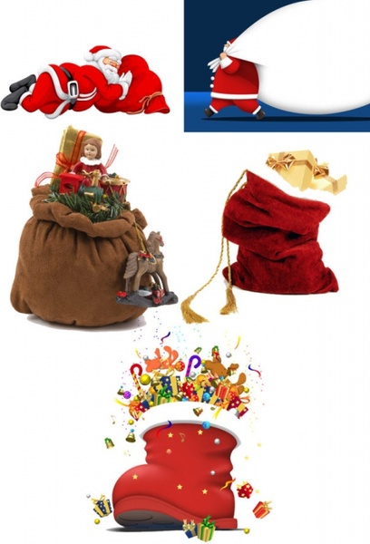 santa claus with a gift bag highdefinition picture