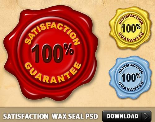 Satisfaction Guarantee Wax Seal PSD