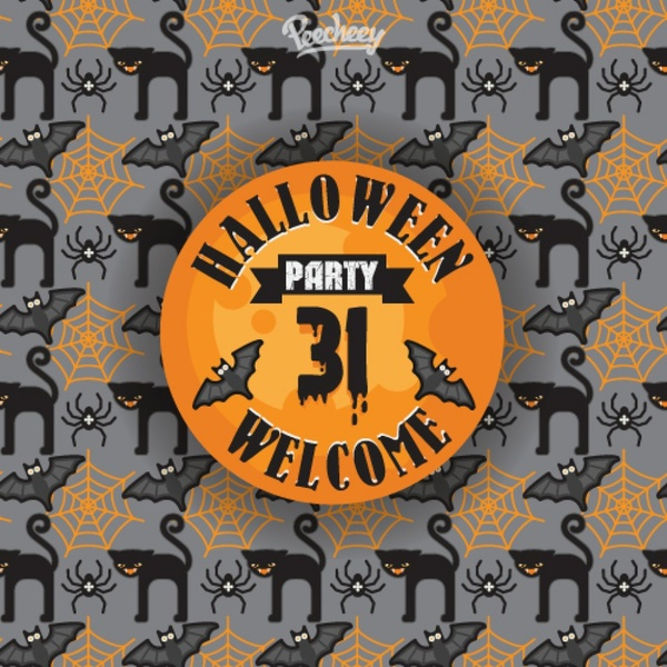 scary seamless pattern for halloween party
