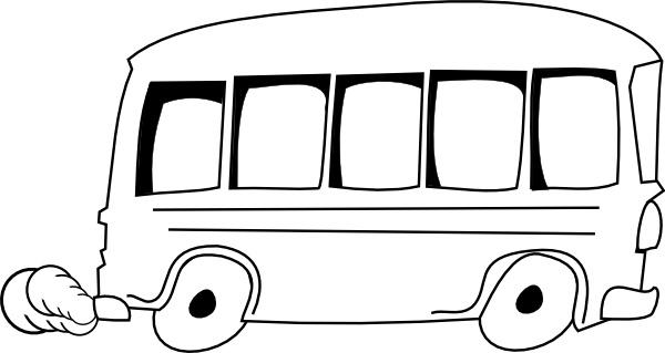 School Bus Outline Clip Art Free Vector In Open Office
