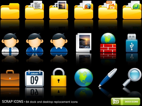 Scrap Icons icons pack