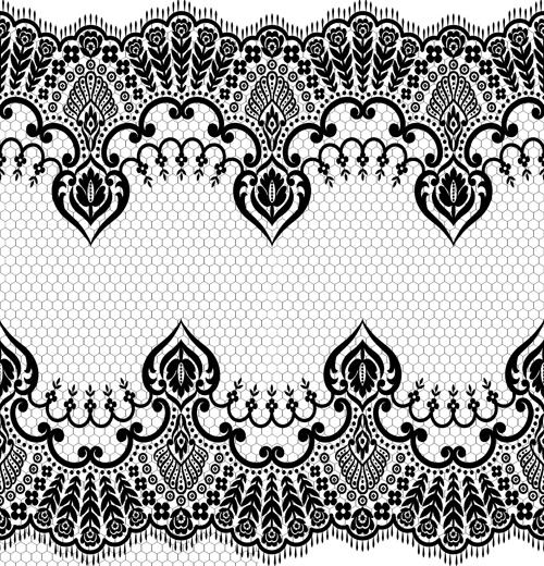 seamless black lace borders vectors free vector in encapsulated
